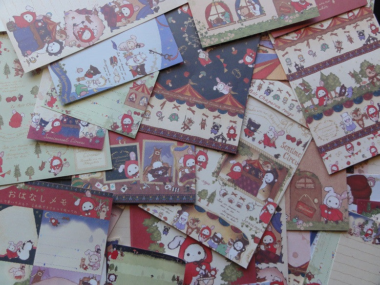 z San-X Sentimental Circus Red Riding Hood Stationery Set