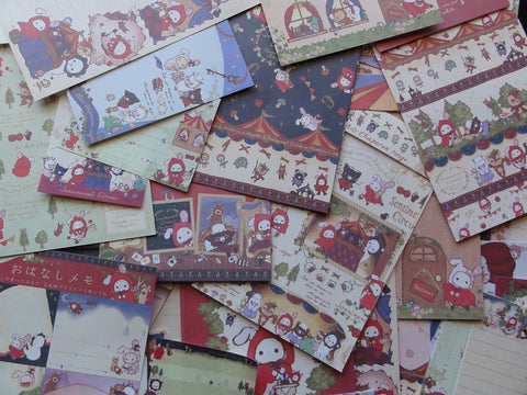 San-X Sentimental Circus Red Riding Hood Stationery Set