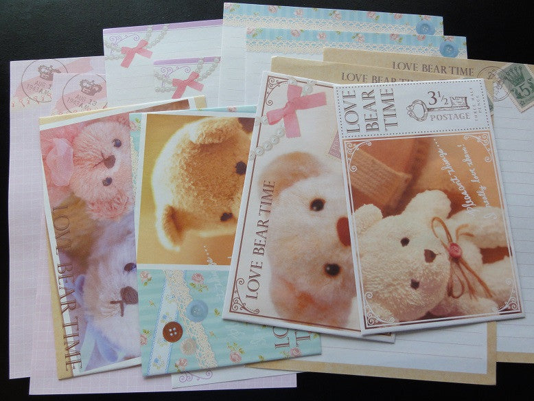 Kamio Love Bear Time Letter Sets