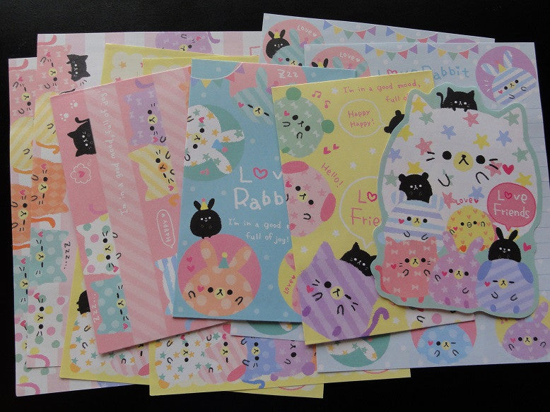 z Kamio Love Rabbit Cat Friends Letter Sets