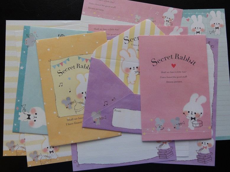 Kamio Secret Rabbit Time Letter Sets
