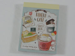 Cute Kawaii Crux Koneko Cafe Cat Love It Mini Notepad / Memo Pad - B - Stationery Design Writing Collection