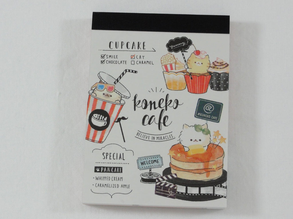 Cute Kawaii Crux Koneko Cafe Cat Love It Mini Notepad / Memo Pad - C - Stationery Design Writing Collection