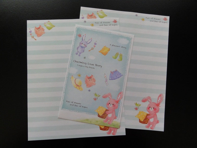 z Crux Charming Love Story Rabbit Letter Set - A