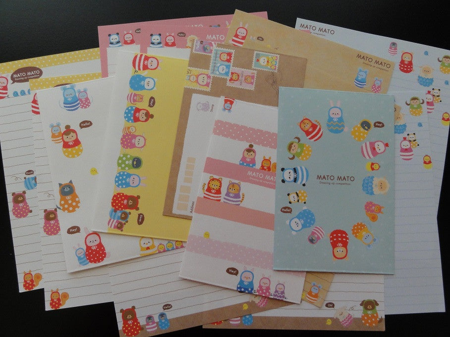 Kamio Mato Mato Animal Dressing Up Letter Sets