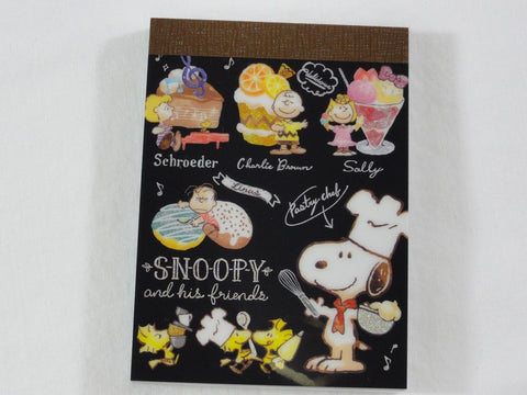 Cute Kawaii Snoopy Pastry Chef Mini Notepad / Memo Pad - Stationery Designer Writing Paper Collection