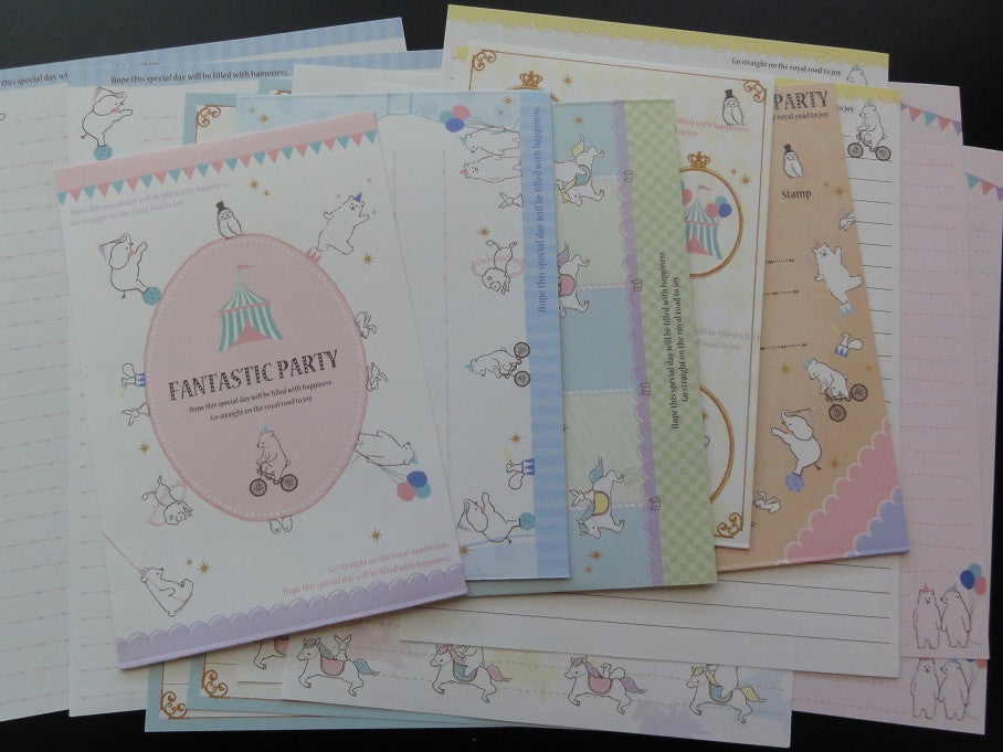 Kamio Fantastic Party Animal Circus Letter Sets