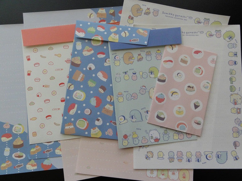 San-X Sumikko Gurashi Sushi Party Letter Sets - B