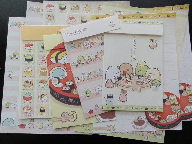San-X Sumikko Gurashi Sushi Party Letter Sets - A
