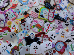 Ghost / Halloween Flake Sack Stickers - 45 pcs