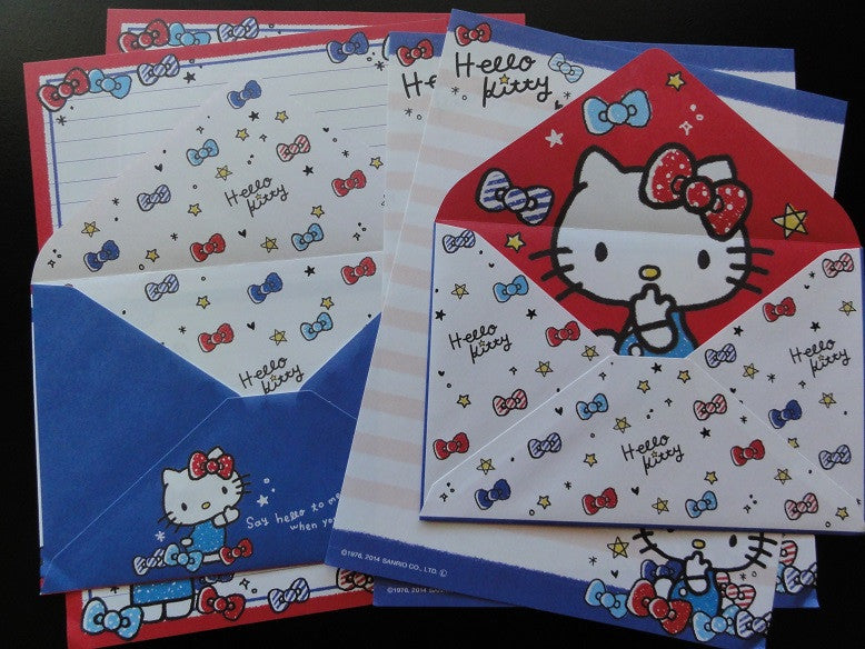 Sanrio Hello Kitty Stars and Ribbons Letter Sets