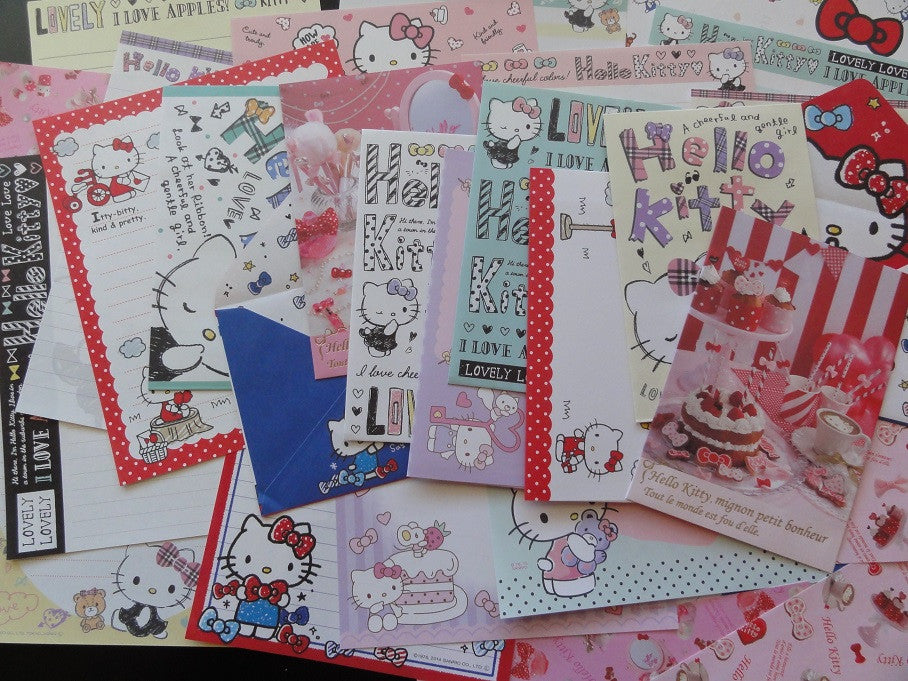 Sanrio Hello Kitty Letter Paper + Envelope Theme Set