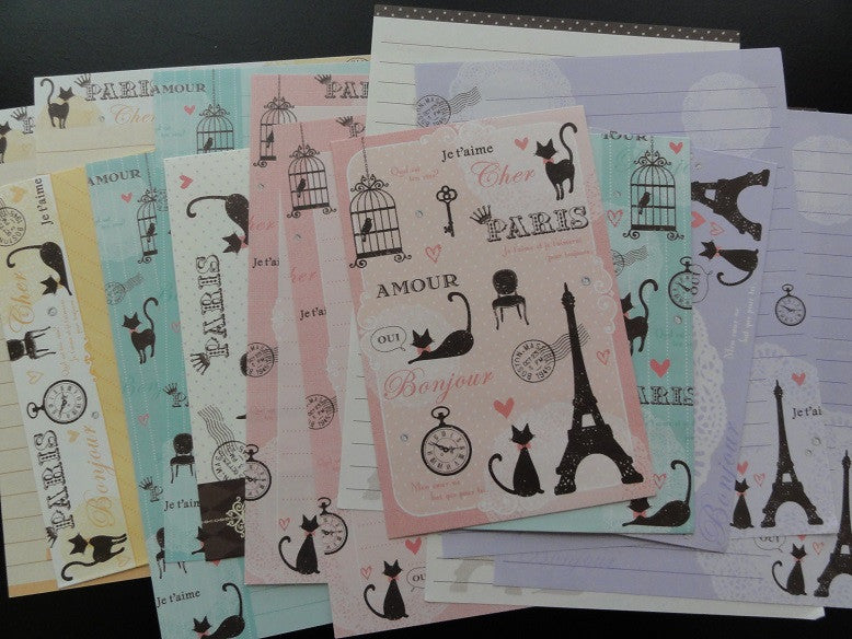 Q-Lia Paris Cat Letter Sets