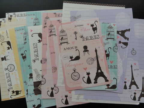 z Q-Lia Paris Cat Letter Sets