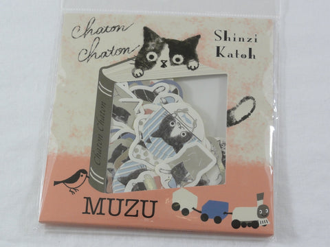 Cute Kawaii Cat Kitten Flake Stickers Sack - Shinzi Katoh Japan - for Journal Agenda Planner Scrapbooking Craft