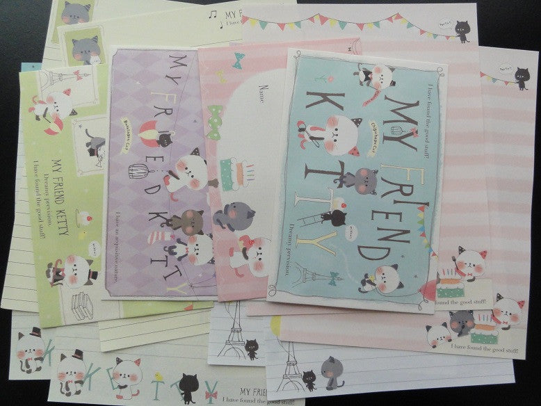 z Kamio My Friend Kitty Letter Sets
