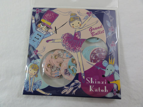 Cute Kawaii Ballet Ballerina Flake Stickers Sack A - Shinzi Katoh Japan - for Journal Agenda Planner Scrapbooking Craft
