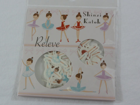 Cute Kawaii Ballet Ballerina Flake Stickers Sack B - Shinzi Katoh Japan - for Journal Agenda Planner Scrapbooking Craft