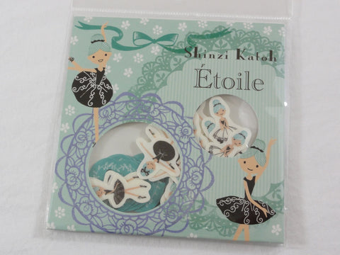 Cute Kawaii Ballet Ballerina Flake Stickers Sack C - Shinzi Katoh Japan - for Journal Agenda Planner Scrapbooking Craft