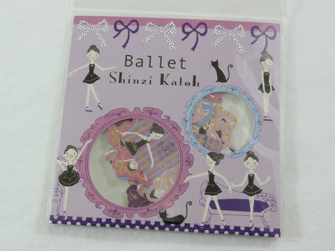 Cute Kawaii Ballet Ballerina Flake Stickers Sack D - Shinzi Katoh Japan - for Journal Agenda Planner Scrapbooking Craft