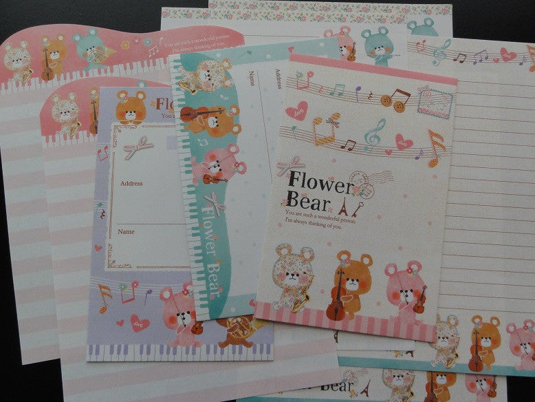 z Crux Musical Flower Bear Letter Sets