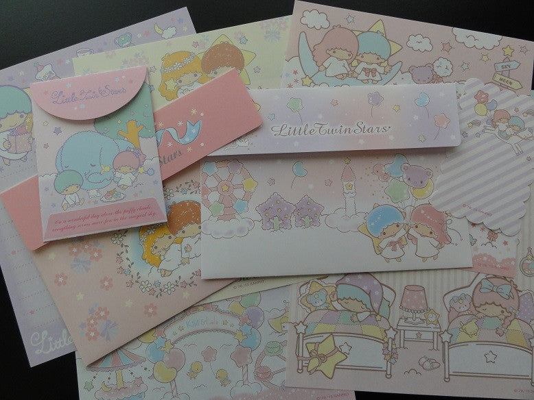 Sanrio Little Twin Stars Letter Sets - Penpal Stationery Writing Paper Envelope Collectible