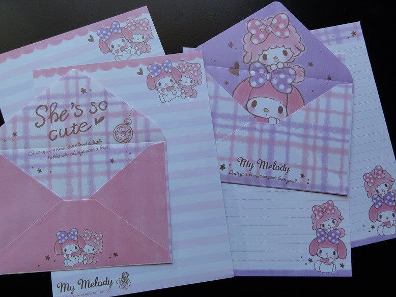 z Sanrio My Melody She's so Cute Letter Sets