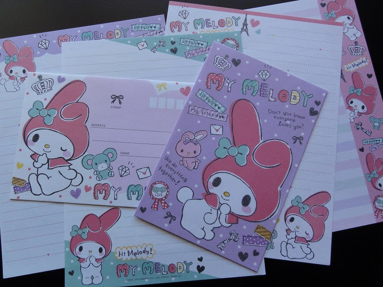 z Sanrio My Melody Hello My Friend Letter Sets