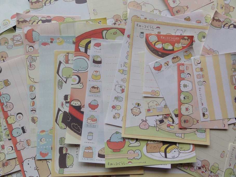 z San-X Sumikko Gurashi Sushi Party Memo Note Paper Set