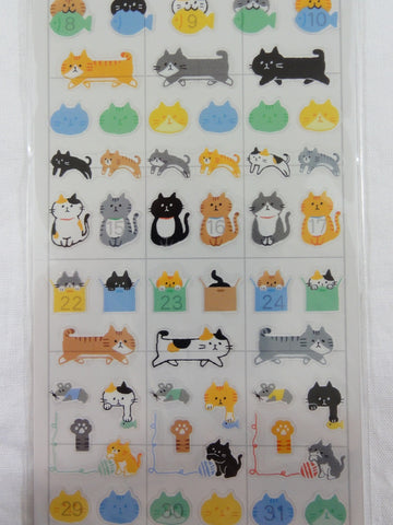 Cute Kawaii Mind Wave Kat Cats Sticker Sheet - for Journal Planner Craft