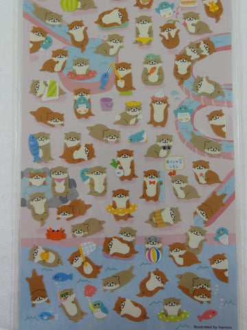 Cute Kawaii Mind Wave Beaver in Nature Fall Autumn Sticker Sheet - for Journal Planner Craft