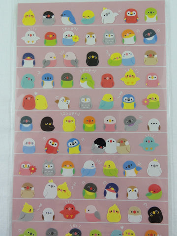 Cute Kawaii Mind Wave Bird Birds Sticker Sheet - for Journal Planner Craft