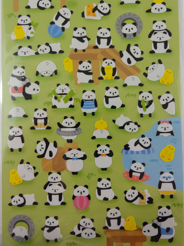 Cute Kawaii Mind Wave Panda Bear Sticker Sheet - for Journal Planner Craft