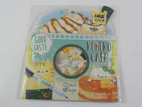 Cute Kawaii Crux Cat Koneko Cafe Flake Stickers Sack - for Journal Planner Scrapbooking Craft