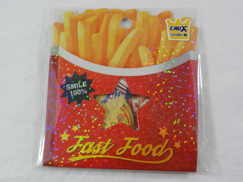 Cute Kawaii Crux Fast Food Fries Ketchup Burger Flake Stickers Sack - for Journal Planner Scrapbooking Craft