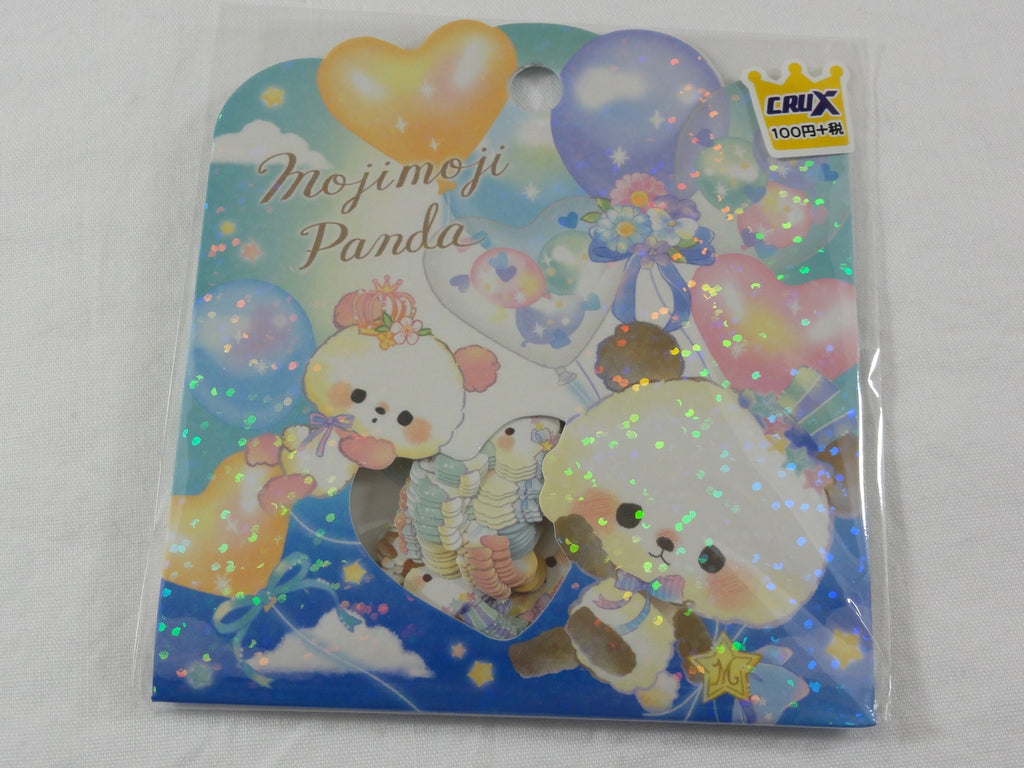 Cute Kawaii Crux Moji Panda Bear Flake Stickers Sack - for Journal Planner Scrapbooking Craft