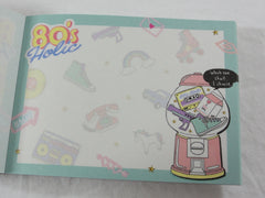 Cute Kawaii Crux 80's Holic Music Fun Gumball Mini Notepad / Memo Pad - Stationery Designer Paper Collection
