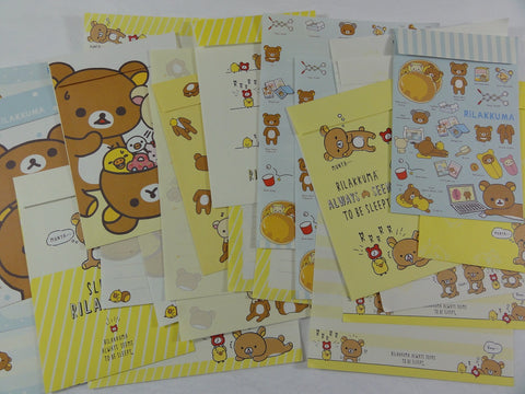 San-X Rilakkuma Letter Paper + Envelope Theme Set - 2018 Stationery Writing