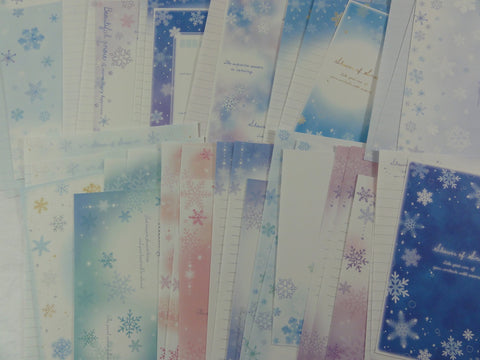 Cute Kawaii Winter Snow theme Letter Paper + Envelope Theme Set