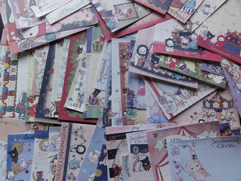 San-X Sentimental Circus 56 Mini Memo Note Paper Set