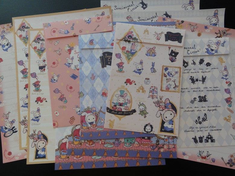 San-X Sentimental Circus Alice Letter Sets - A