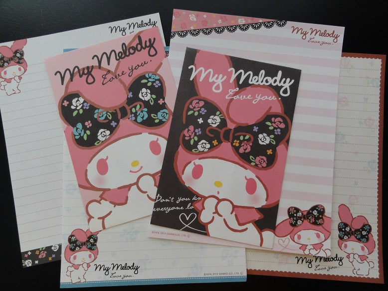 Sanrio My Melody Rose Ribbon Letter Sets