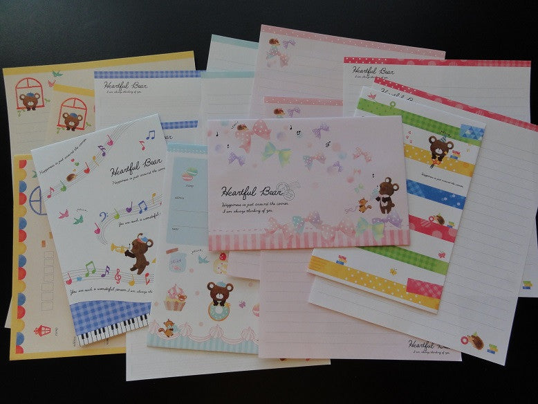 z Crux Heartful Bear Letter Sets