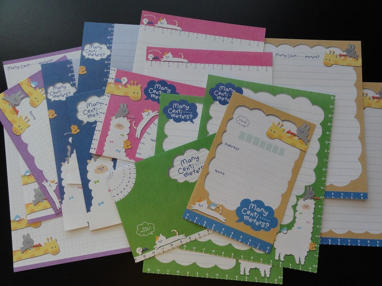 z Q-Lia Giraffe Alpaca Animals How Many Meters Zoo Letter Sets