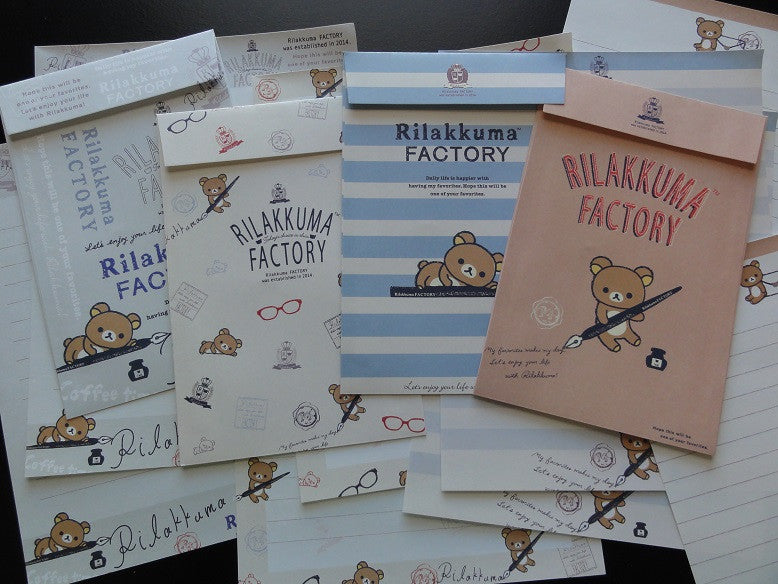 San-X Rilakkuma Factory Writing Bear  Letter Sets