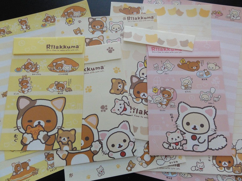 San-X Rilakkuma Bear Cat Letter Sets - B
