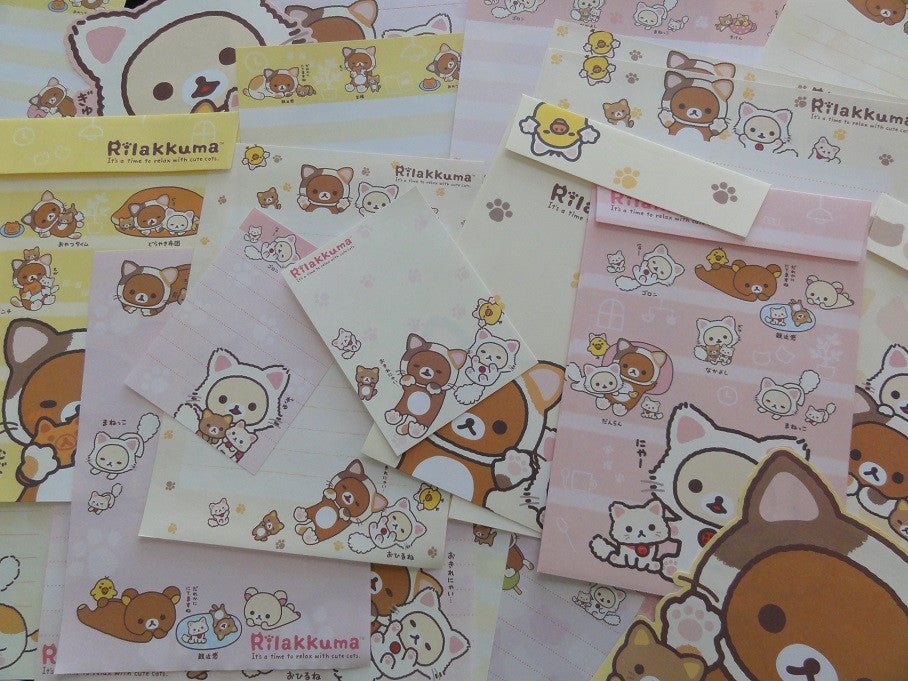 Kawaii Cute San-X Rilakkuma Cat Stationery Set