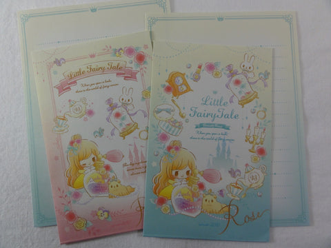Cute Kawaii Q-Lia Little Fairy Tale Princess Mini Letter Sets - Small Writing Note Envelope Set Stationery