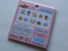 San-X Rilakkuma Bear Seal / Sticker Bits Sack - A