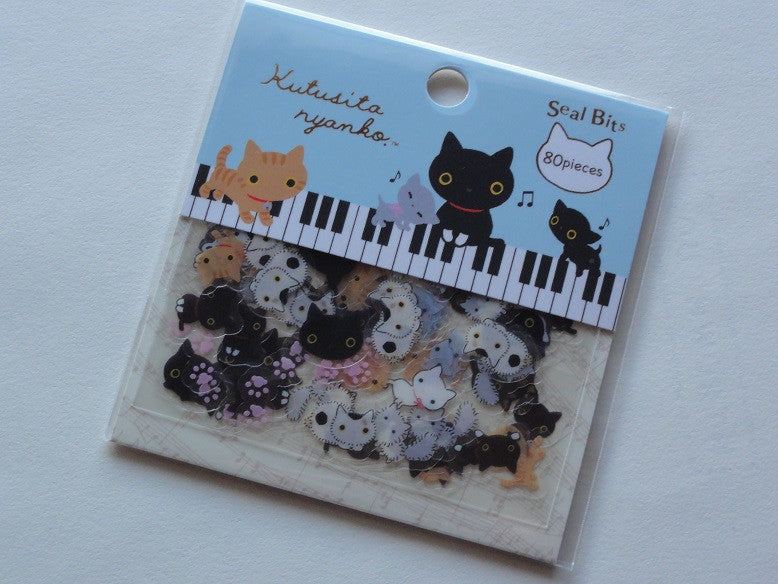 San-X Kutusita Nyanko Cat Kitten Seal / Sticker Bits Sack